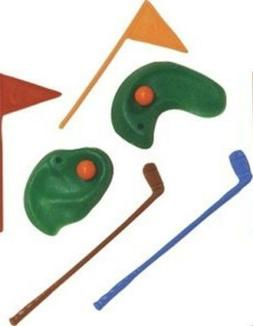 1 Golf Green w/ Clubs & Flags  Cake Topper Decoration Figuri