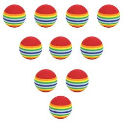 10pcs 35mm 38mm42mm EVA Foam Soft Rainbow Stripe <font><b>Go