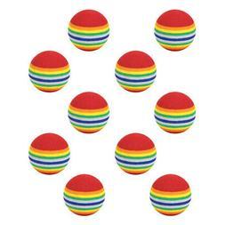 10Pcs Indoor Practice Golf Balls Training Ball Golf Clubs Eq