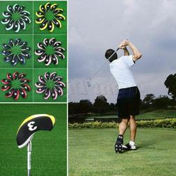 10Pcs Neoprene Golf Iron Head Covers Iron Protect Set for Ta