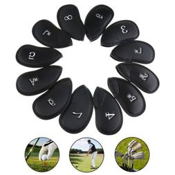 12pcs PU Leather Golf Club Iron Head Covers for Ping Callawa