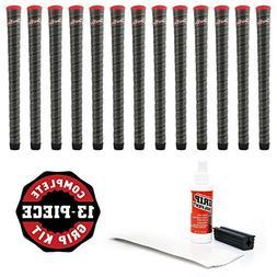 Winn 13 Dri-Tac Wrap Standard Dark Gray/Red Cap Golf Grips-R