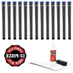 Winn 13 Dri-Tac Wrap Midsize Dark Gray/Blue Cap Golf Grips-R
