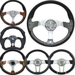 """14"""" Golf Cart Steering Wheel and Adapter for Most Golf Cart"""