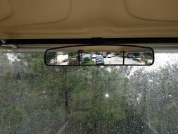 """16.5"""" Extra Wide Panoramic Rear View Mirror for Golf Carts A"""