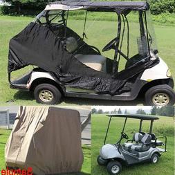 2/4-Person Golf Cart Accessories Rain Cover Enclosure Club C