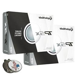 TaylorMade 2 Dozen of TP5X White Golf Ball + 1 Custom Ball M