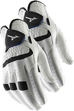 Mizuno 2 NEW Elite Mens Golf Gloves Medium-Large Cadet Left