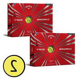 Callaway 2016 Chrome Soft Golf Balls ,Yellow/Black Truvis