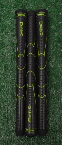 3 Winn Dri-Tac Black Golf Grips - Oversize - 50 Grams - 1940
