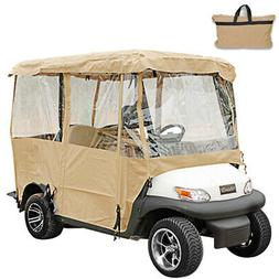 4 Passenger Driving Enclosure Golf Cart Cover Fits EZ GO, Cl