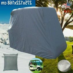 4 Passenger Sunproof Golf Cart Cover Waterproof For EZ GO Cl