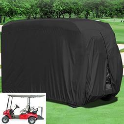 Lmeison 4 Passenger Waterproof Dustproof Golf Cart Cover, Fi