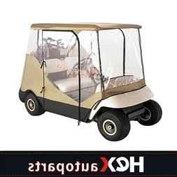 2 Passenger Driving Enclosure Golf Cart Cover For EZ Go,Club