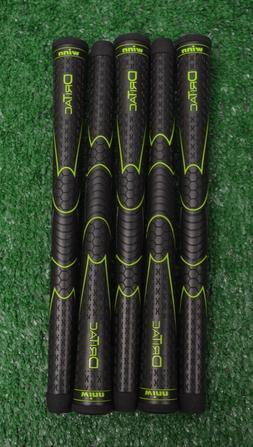 5 Winn Dri-Tac Black Golf Grips - Oversize - 50 Grams - 1940