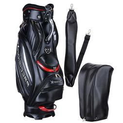 5-Way Golf Stand & Carry Bag Clubs Storage Black/Red 27009