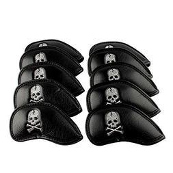 6000081 Craftsman Golf 10pcs Black Skull Thick Pu Synthetic