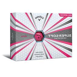 Callaway 642075412 Pink 2017 Supersoft Golf Balls
