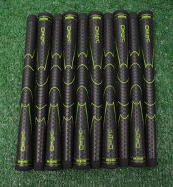 8 Winn Dri-Tac Black Golf Grips - Oversize - 50 Grams - 1940