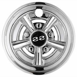 "8"" SS Golf Cart Wheel Cover Chrome Hub Cap 4 pcs Fits for EZ"
