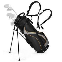 "9"" Golf Stand Bag Club 7 Way Divider Carry Organizer Pockets"