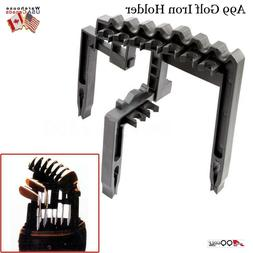 A99 Golf 9 Iron Club Holder Black Universal Tool, Organize I
