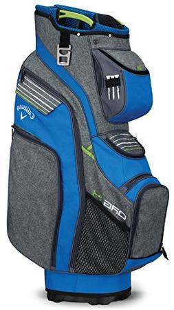 Callaway Golf 2018 Org 14 Cart Bag, Titanium/Blue/ Green