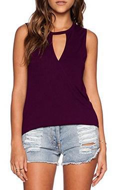 Duppoly Womens V Neck Summer Shirts Cross Wrap Top Ladies Sl