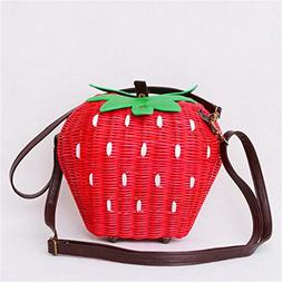 Fruit Bags Fashion Strawberry Hand-Made Women Shoulder Bags