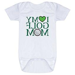 Golf Baby & Infant Onesie | I Love My Golf Mom | GREEN | One