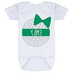 Golf Baby & Infant Onesie | Personalized Golf Ball Bow | GRE