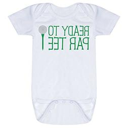 Golf Baby & Infant Onesie | Ready to Par Tee | One Piece Med