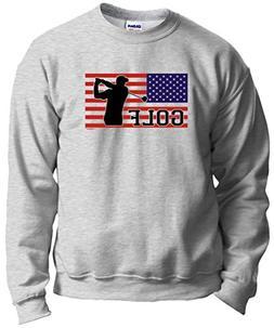 Golf Clubs American Pride Golf Golfer Crewneck Sweatshirt Me