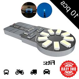 LED Monster 10-Pack Ice Blue 18-SMD LED Light Bulb for Licen