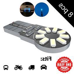 LED Monster 8-Pack Ice Blue 18-SMD LED Light Bulb for Licens