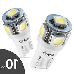 Marsauto 194 LED Light Bulb 6000K 168 T10 2825 5SMD LED Repl