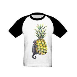 Osmantus Child's Pineapple Cat1 Raglan T-Shirts 3/4 Sleeves