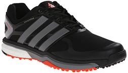 adidas Men's Adipower s Boost Golf Shoe, Black/Iron Metallic