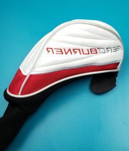 aeroburner fairway wood headcover white red golf