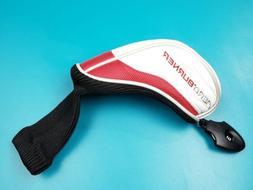 Taylor Made Aeroburner Hybrid Headcover White/Red Golf Cover
