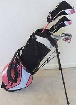 Girls Ages 8-12 Junior Golf Club Set with Stand Bag for Kids