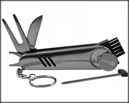 All-in-One Stainless Steel Golfer's Tool ))