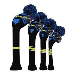 Scott Edward Blue Yellow Black Abstract Pattern Golf Head Co