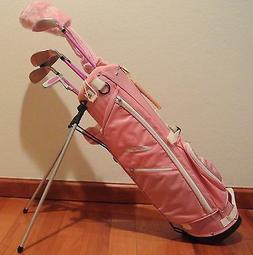 brand new pink girls kids golf clubs