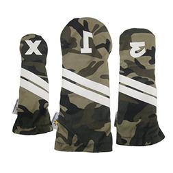 Sunfish camouflage Headcover Set 1-3-X golf headcover milita
