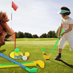 Children Mini Leisure Golf Club Set Outdoor Practice Kid Pla