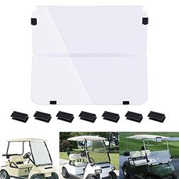 AW Fold Down Golf Cart Windshield Impact Resistant Acrylic S