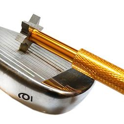The Elixir Golf Club Groove Sharpener Tool with 6 Cutters -