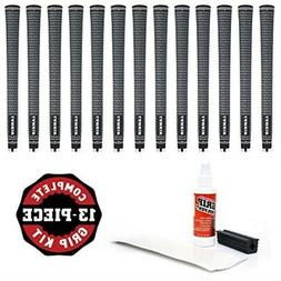 Lamkin Crossline Ribbed Grip Kit with Tape, Solvent and Vise