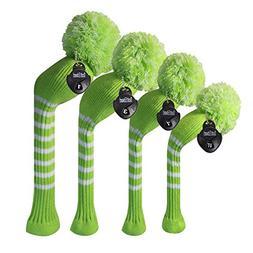 Scott Edward Dark Color Yarn Knitted Golf Club Head Covers S